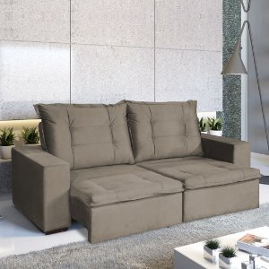 SOFA 3L ARIEL RETRÁTIL / RECLINÁVEL  2.12M VELUDO LIGHT/MR
