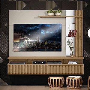 """PAINEL HOME P/ TVs até 60"""" MARAGOGI CARVALHO /OFF-WHITE"""