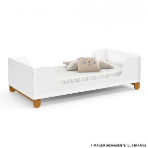 MINI CAMA ZUPY LAQUEADO ECO WOOD ./BRANCO SOFT