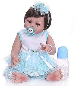 Bebê Reborn de Silicone Linda Glamour - Pronta Entrega