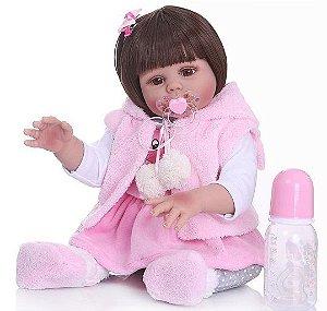 Bebê Reborn de Silicone, 55cm, Coelhinho