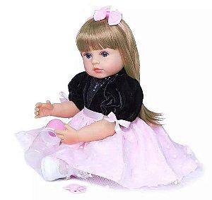 Bebê Reborn, 55cm, Bebe Reborn com cabelo grande - Lançamento