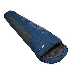 Saco de Dormir NTK Mummy -1 A 8 Graus - Azul/Cinza