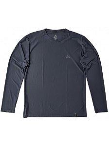 Camiseta Conquista Dry Cool ML - Masculina - Cinza Chumbo - GG