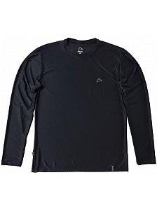 Camiseta Conquista Dry Cool ML - Masculina - Preta - XG