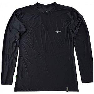 Camiseta Conquista Dry Cool ML - Feminina - Preta - GG