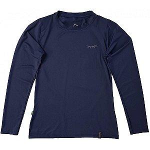Camiseta Conquista Dry Cool ML - Feminina - Azul Marinho - P