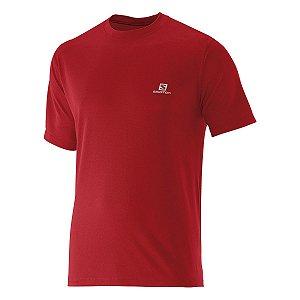 Camiseta Salomon Comet SS Masculino - Vermelho