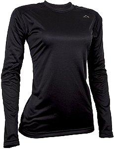 Camiseta Segunda Pele Conquista Arctic - Feminina - Preta