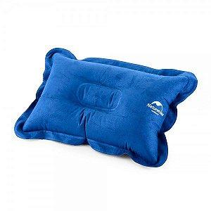 Travesseiro Inflável Naturehike Pillow - Azul
