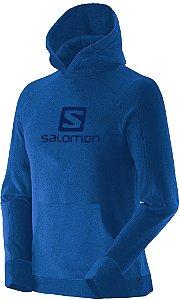 Blusa Salomon Polar Hoodie com Capuz Masculino - Azul