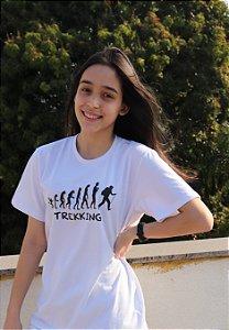 Camiseta Evolução do Trekking Unissex - Branca