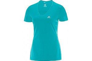 Camiseta Salomon Comet SS Feminino - Azul Claro