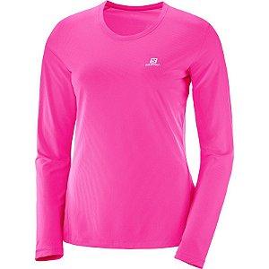 Camiseta Salomon Sonic LS Feminino - Rosa