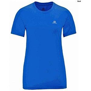 Camiseta Salomon Training I Feminino - Azul