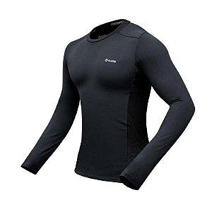 Camiseta Segunda Pele 4Climb Masculino - Preta