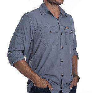 Camisa Hard Adventure Safari - Masculina - Cinza Azulado