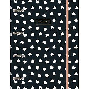 Caderno Argolado Cartonado Universitário com Elástico - West Village