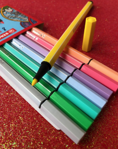 Stabilo pen68 pastel - kit com 8 unidades