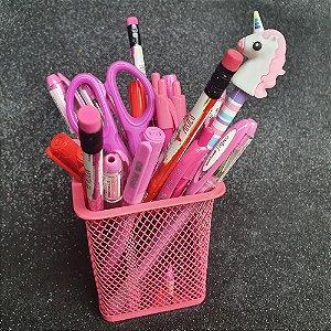 Porta lápis aramado - quadradinho pastel