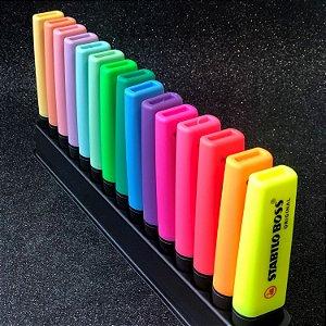 Mega kit Stabilo Boss - 15 unidades neon e pastel