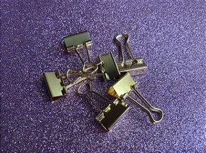 Binder dourado - pacote com 6 unidades