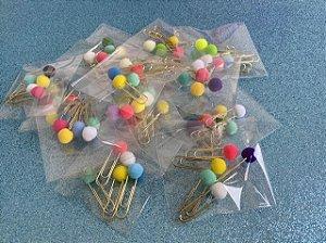 Clips de pompom - 5 unidades de cores tropicais sortidas!