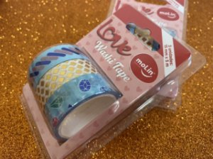 Washi Tape Molin - listras/flores/diamantes