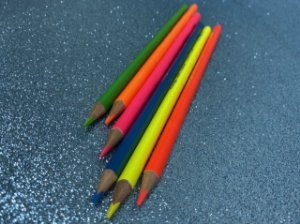 Lápis de cor neon - kit com 6 cores