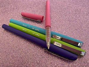 Caneta Tris Style Gel Fashion - estojo com 4 cores