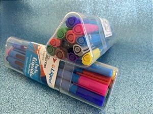 Caneta Tris Liqeo Super Fina - estojo com 12 cores