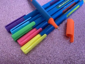 Caneta Tris Liqeo Super Fina - estojo com 6 cores neon