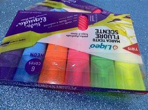 Marca Texto Tris Liqeo Neon - estojo com 6 cores