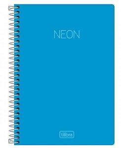 Caderno Espiral Capa Plástica 1/4 Neon - 80 Folhas