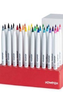 Brush Pen Newpen Ginza - Caixa com as 30 cores!