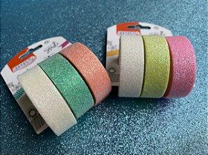 Washi tape Glossy - glitter puro! BRW