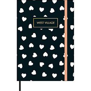 Caderneta sem pauta - West Village - 80 folhas - Tilibra - tamanho M