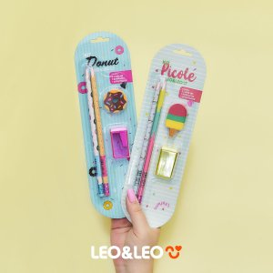 Kit lápis, borracha e apontador Picolé