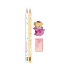 Kit lápis, borracha e apontador Fada