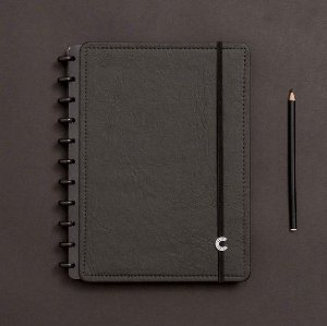 Caderno Inteligente Preto Ecológico - Grande