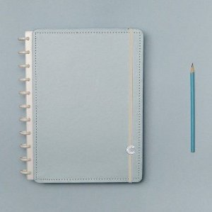 Caderno Inteligente Azul Pastel - Médio