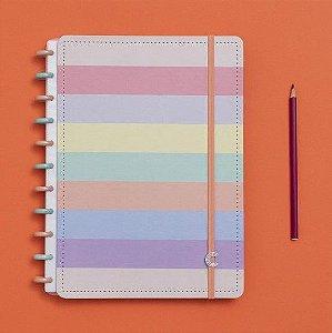 Caderno Inteligente Arco Íris Pastel - Grande