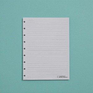 Refil Pautado Médio 90g - Caderno Inteligente