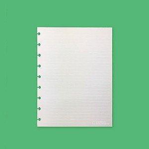 Refil Pautado Linha Branca 120g Médio - Caderno Inteligente