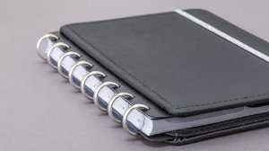 Discos e Elástico G Prata - Caderno Inteligente
