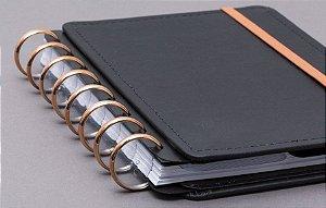 Discos e Elástico G Rosé Gold - Caderno Inteligente