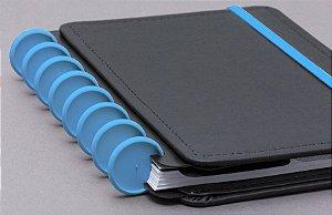 Discos e Elástico G Azul Atlântico - Caderno Inteligente