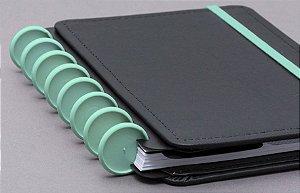 Discos e Elástico G Verde Pantanal - Caderno Inteligente