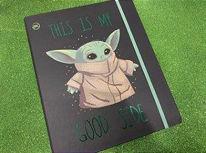 Caderno Argolado Universitário Star Wars Baby Yoda