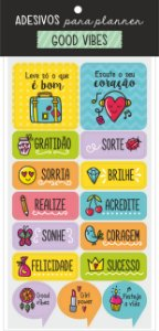 Adesivo para Planner Good Vibes - Cartões Gigantes
